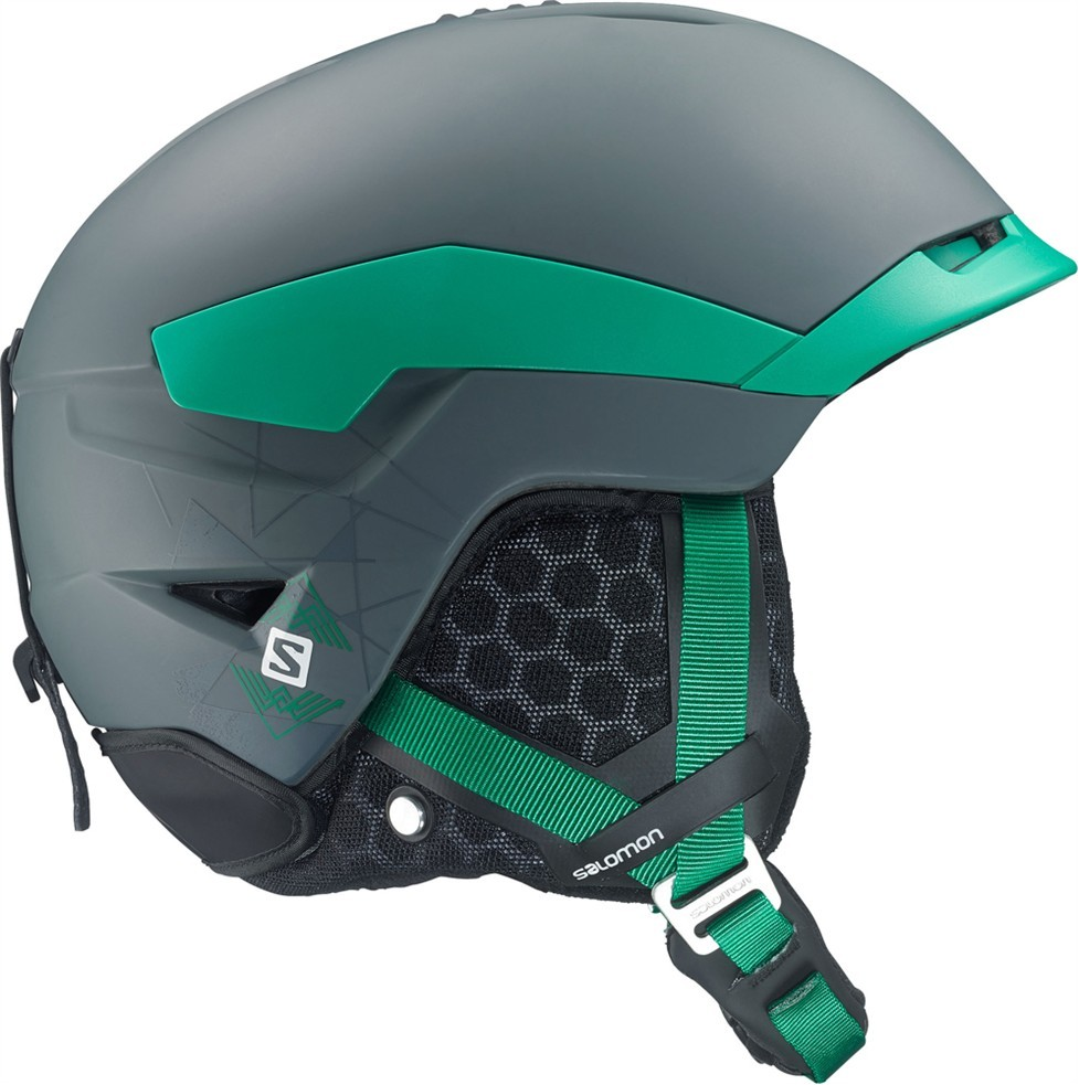 lyžařská helma Salomon Quest black grey/green L 14/15